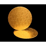 212 - 12 inch Cake Round, Gold Foil Single Wall Corrugated