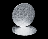 213 - 12 inch Cake Round, Silver Foil Single Wall Corrugated. C06