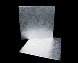 215 - 12 inch Cake Board, Square Silver Foil Single Wall Corrugated. C07