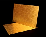 220 - Quarter Sheet Cake Board, Gold Foil Covered Double Wall Corrugated. C11