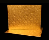 221 - Half Sheet Cake Board, Gold Foil Covered Double Wall Corrugated. H19