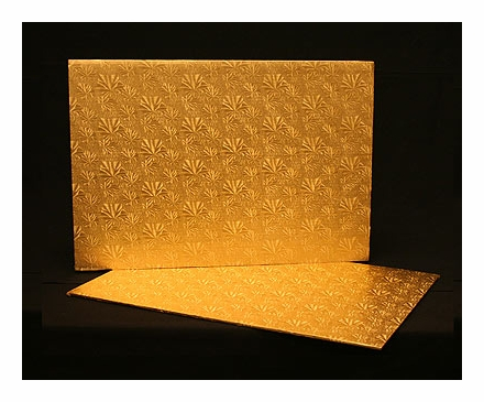222 full sheet cake board gold foil covered double wall corrugated