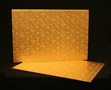 222 - Full Sheet Cake Board, Gold Foil Covered Double Wall Corrugated. H33