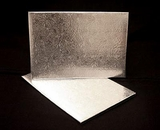 223 - Quarter Sheet Cake Board, Silver Foil Covered Double Wall Corrugated