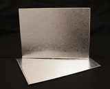 224 - Half Sheet Cake Board, Silver Foil Covered Double Wall Corrugated. H19