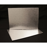 224 - Half Sheet Cake Board, Silver Foil Covered Double Wall Corrugated