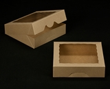 "2242 - 10"" x 10"" x 2 1/2"" Brown/Brown Timesaver Cookie Box with Window"