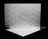225 - Full Sheet Cake Board, Silver Foil Covered Double Wall Corrugated. H30