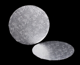 227 - 9 inch Cake Round, Silver Single Wall Corrugated