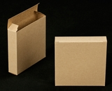 "2270 - 4 3/8"" x 4 3/8"" x 1"" Brown/Brown Reverse Tuck Box without Window"