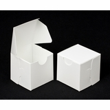 "2286 - 2 1/2"" x 2 1/2"" x 2 1/2"" White/White without Window, Lock &Tab Box With Lid"