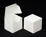 "2286 - 2 1/2"" x 2 1/2"" x 2 1/2"" White/White without Window, Lock &Tab Box With Lid. B04"
