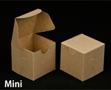 "2287 - 2 1/2"" x 2 1/2"" x 2 1/2"" Brown/Brown without Window, Lock & Tab Box With Lid. B03"