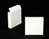 "2315 - 4 3/8"" x 4 3/8"" x 1"" White/White Cookie Box without Window Reverse Tuck"