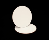 234 - 7 inch White Cake Round, Coated Corrugated Single Cake Board. C02