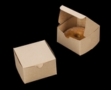 "2365 - 4"" x 4"" x 2 1/2"" Brown/Brown Lock & Tab Pastry Box without Window"