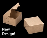 """2365 - 4"""" x 4"""" x 2 1/2"""" Brown/Brown without Window, Lock & Tab Box With Lid"""