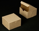 "2365 - 4"" x 4"" x 2 1/2"" Brown/Brown without Window, Lock & Tab Box With Lid"