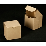 "2366 - 4"" x 4"" x 4"" Brown/Brown Lock & Tab Box without Window"