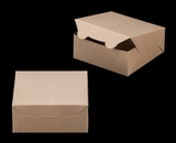 "2367 - 6"" x 6"" x 2 1/2"" Brown/Brown Lock & Tab Cookie Box without Window"