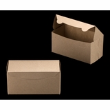 "2369 - 8"" x 4"" x 4"" Brown/Brown Lock & Tab Box without Window"