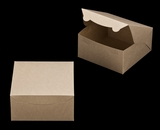"2371 - 8"" x 8"" x 4"" Brown/Brown without Window, Lock & Tab Box With Lid. A20"