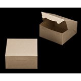 "2371 - 8"" x 8"" x 4"" Brown/Brown without Window, Lock & Tab Box With Lid"
