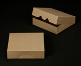 "2375 - 10"" x 10"" x 2 1/2"" Brown/Brown Timesaver Cookie Box without Window"