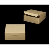 "2376 - 10"" x 10"" x 4"" Brown/Brown Lock & Tab Box without Window"