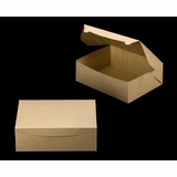 "2377 - 12"" x 9"" x 4"" Brown/Brown Lock & Tab Box without Window"