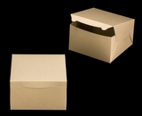 "2381 - 10"" x 10"" x 6"" Brown/Brown without Window, Lock & Tab Box With Lid. A31"