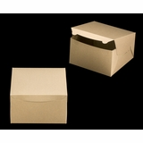 "2381 - 10"" x 10"" x 6"" Brown/Brown Lock & Tab Box without Window"