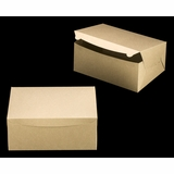 "2382 - 14"" x 10"" x 6"" Brown/Brown Lock & Tab Box without Window"
