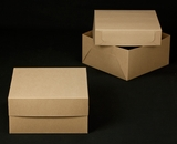 "2383x2384 - 12"" x 12"" x 6"" Brown/Brown Lock & Tab Box Set without Window"