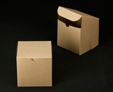 "2385 - 6"" x 6"" x 6"" Brown/Brown without Window, Lock & Tab Box With Lid. A21"