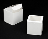 "2388 - 6"" x 6"" x 6"" White/White Lock & Tab Box with Window"