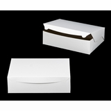 "239 - 14"" x 10"" x 4"" White/Brown Lock & Tab Box without Window"