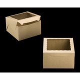 "2391 - 10"" x 10"" x 6"" Brown/Brown Lock & Tab Box with Window"