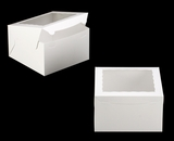 "2392 - 10"" x 10"" x 6"" White/White with Window, Lock & Tab Box With Lid. A33"