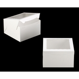 "2392 - 10"" x 10"" x 6"" White/White with Window, Lock & Tab Box With Lid"