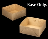 "2396 - 14"" x 14"" x 6"" Brown/Brown Lock & Tab Box Lid Only, with Window"