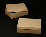 "2401x2379 - 19"" x 14"" x 6"" Brown/Brown Lock & Tab Box Set without Window"