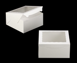 "245 - 10"" x 10"" x 5"" White/White Lock & Tab Box with Window"