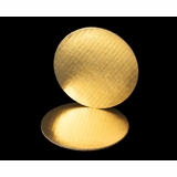 2451- 7 Inch Cake Round, Gold Foil Single Wall Corrugated Cake Board