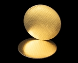 2451- 7 Inch Cake Round, Gold Foil Single Wall Corrugated Cake Board. C02