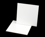 2452 - 9 inch White Cake Square, Coated Corrugated Cake Board. C04