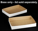 "264 - 26"" x 18"" x 4"" White/Brown Lock & Tab Full Sheet Cake Box, Base Only, 50 COUNT"