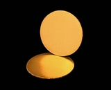 2725 - 6 Inch Cake Round, Gold Foil Single Wall Corrugated Cake Board. C02