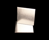 2728 - 6 Inch Cake Board, Silver Foil Single Wall Corrugated. C02
