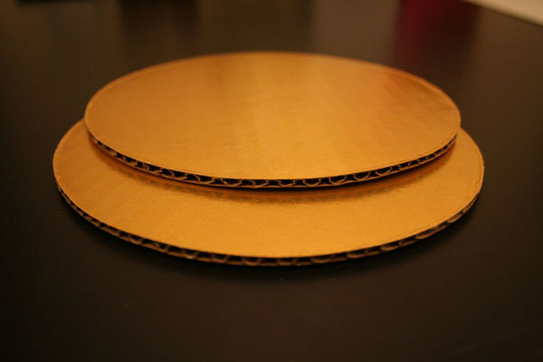 2729 8 Inch Cake Round Gold Foil Single Wall Corrugated